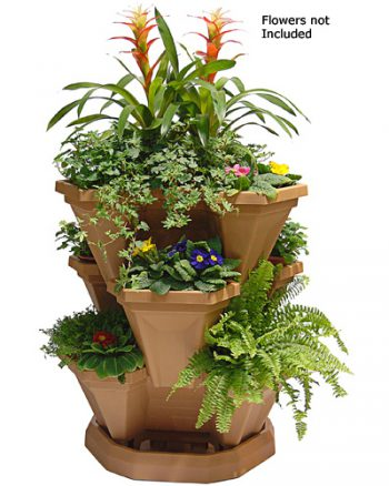 Terracotta - Large - Set of 3 Tubs & Tray (Flowers Not Included)